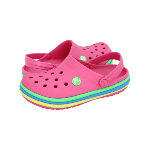 Παιδικά Σαμπώ Crocs CB Rainbow Band Clog