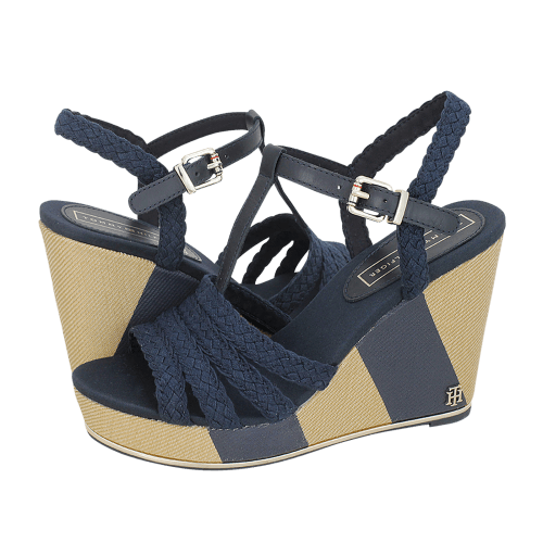 Παντόφλες Tommy Hilfiger Printed Wedge Sandal