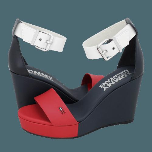 Πλατφόρμες Tommy Hilfiger Colorblock RWB Wedge Sandal