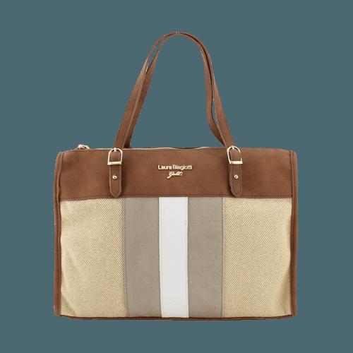 Τσάντα Laura Biagiotti Gold Trojane