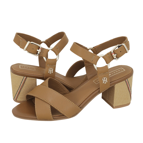 Πέδιλα Tommy Hilfiger Elevated Leather Heeled Sandal