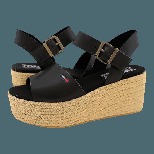 Πλατφόρμες Tommy Hilfiger Natural Flatform Sandal