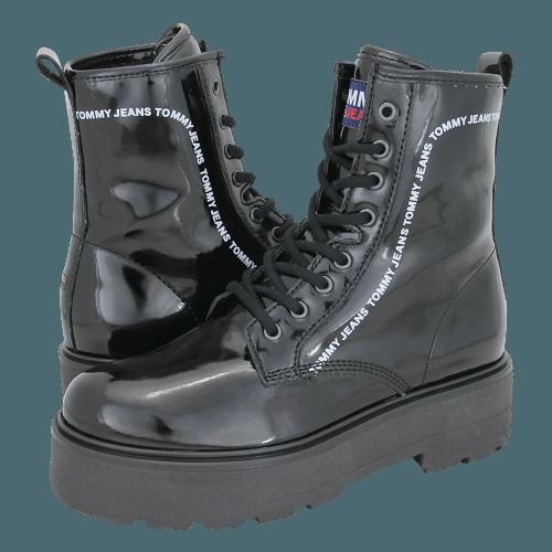 Μποτάκια Tommy Hilfiger Patent Lace Up Boot