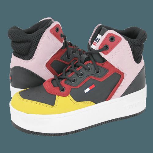 Παπούτσια casual Tommy Hilfiger Iconic Midcut Leather Sneaker