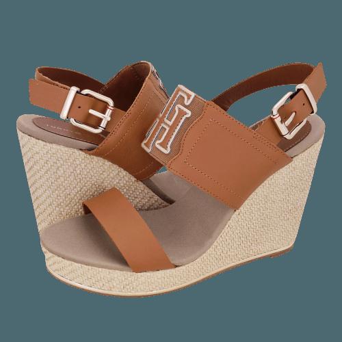 Πλατφόρμες Tommy Hilfiger TH Elastic High Wedge Sandal