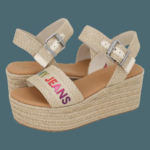 Πλατφόρμες Tommy Hilfiger Rainbow Branding Flatform Sandal