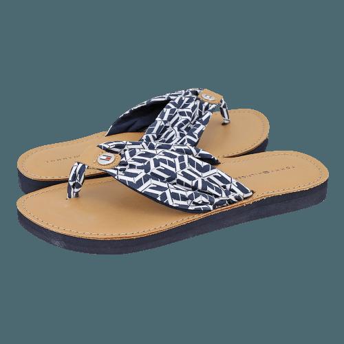 Σανδάλια Tommy Hilfiger Leather Footbed TH Beach Sandal