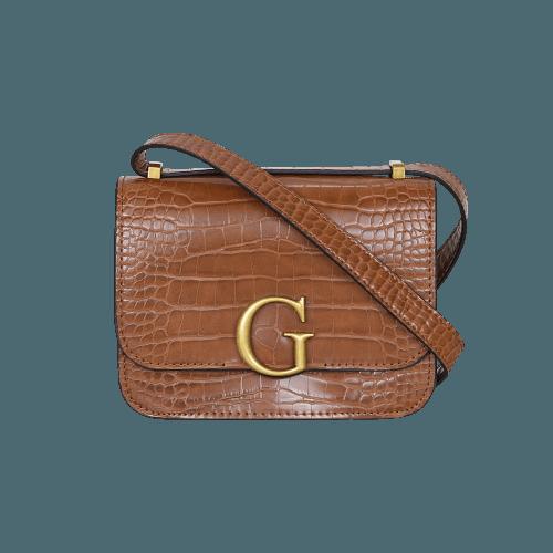 Τσάντα Guess Corily Croc Print Crossbody Bag