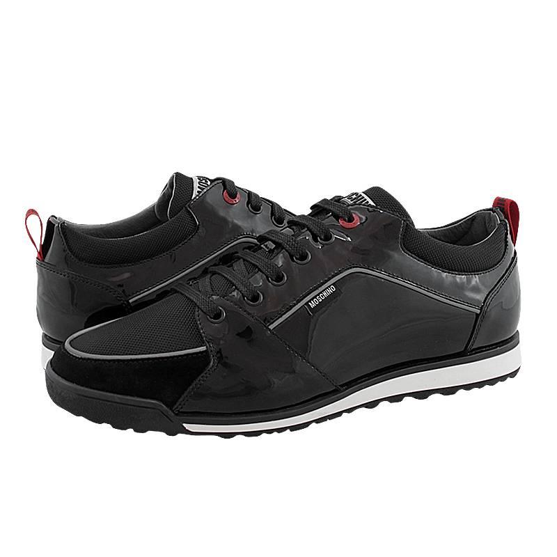 00a9cc217f Chesnes - Ανδρικά παπούτσια casual Moschino από λουστρινι και υφασμα ...