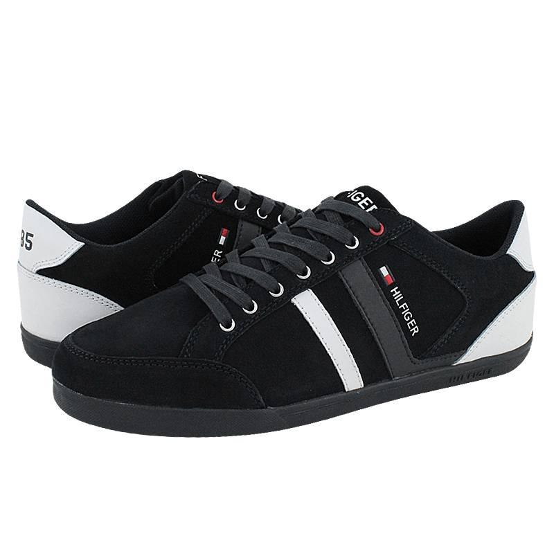 Cers - Ανδρικά παπούτσια casual Tommy Hilfiger από καστόρι και δέρμα ... 5b8707452ee