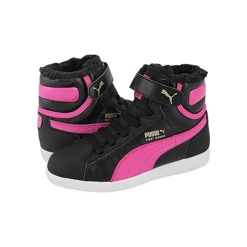 First Round Fur V S - Παιδικά αθλητικά παπούτσια Puma από δερμα ... 39a3f4ddf5c