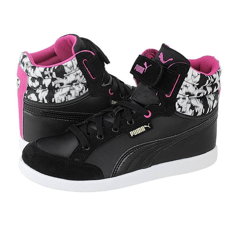 IKAZ Mid Strap Blur Jr - Παιδικά αθλητικά παπούτσια Puma από δερμα ... 9b6af188284
