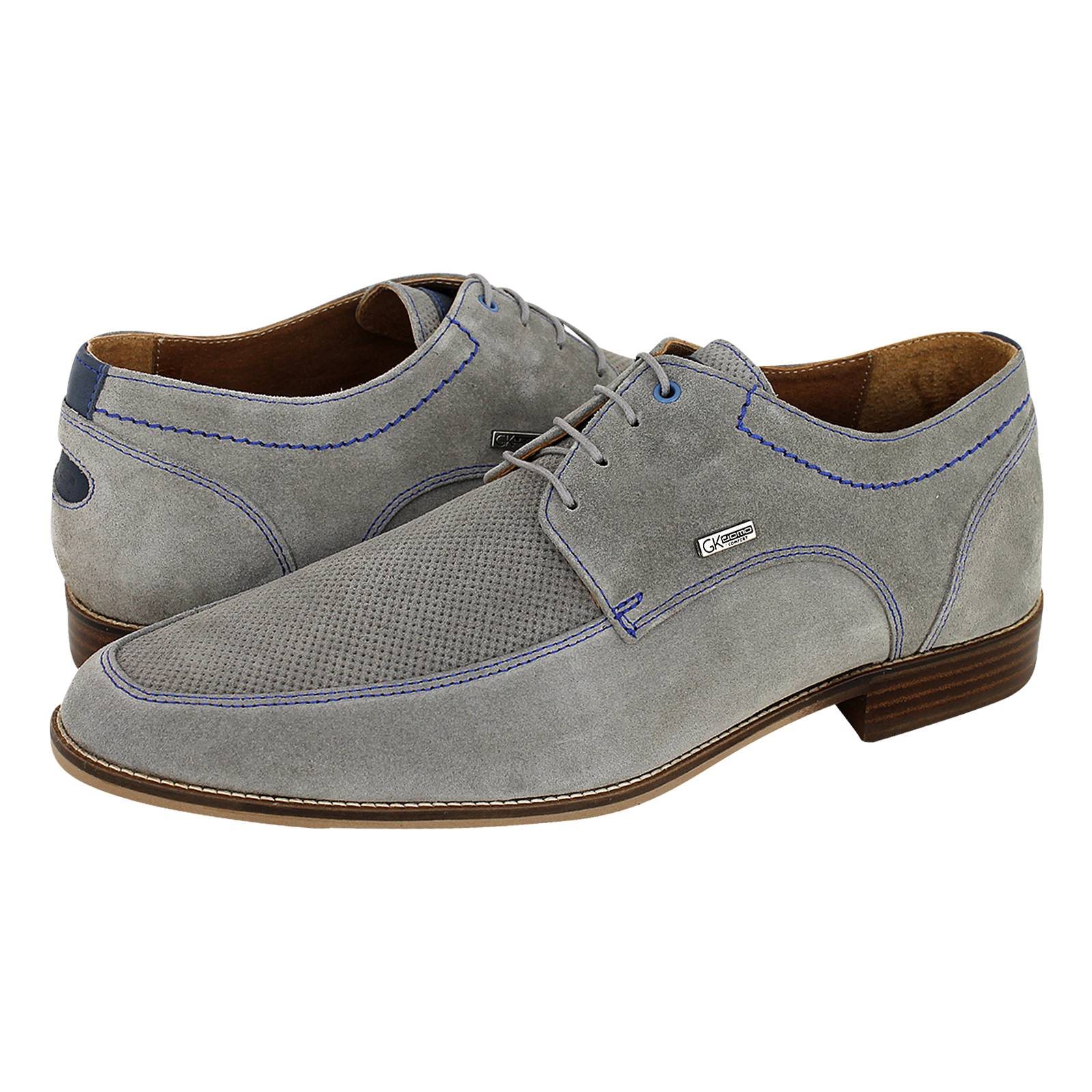 Sodhi - Ανδρικά δετά παπούτσια GK Uomo Comfort από καστορι τρυπητο ... 917303ac758