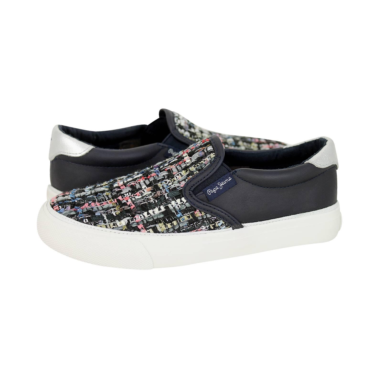 0d75f881e3d Castillon - Παιδικά παπούτσια casual Pepe Jeans από υφασμα και δερμα ...