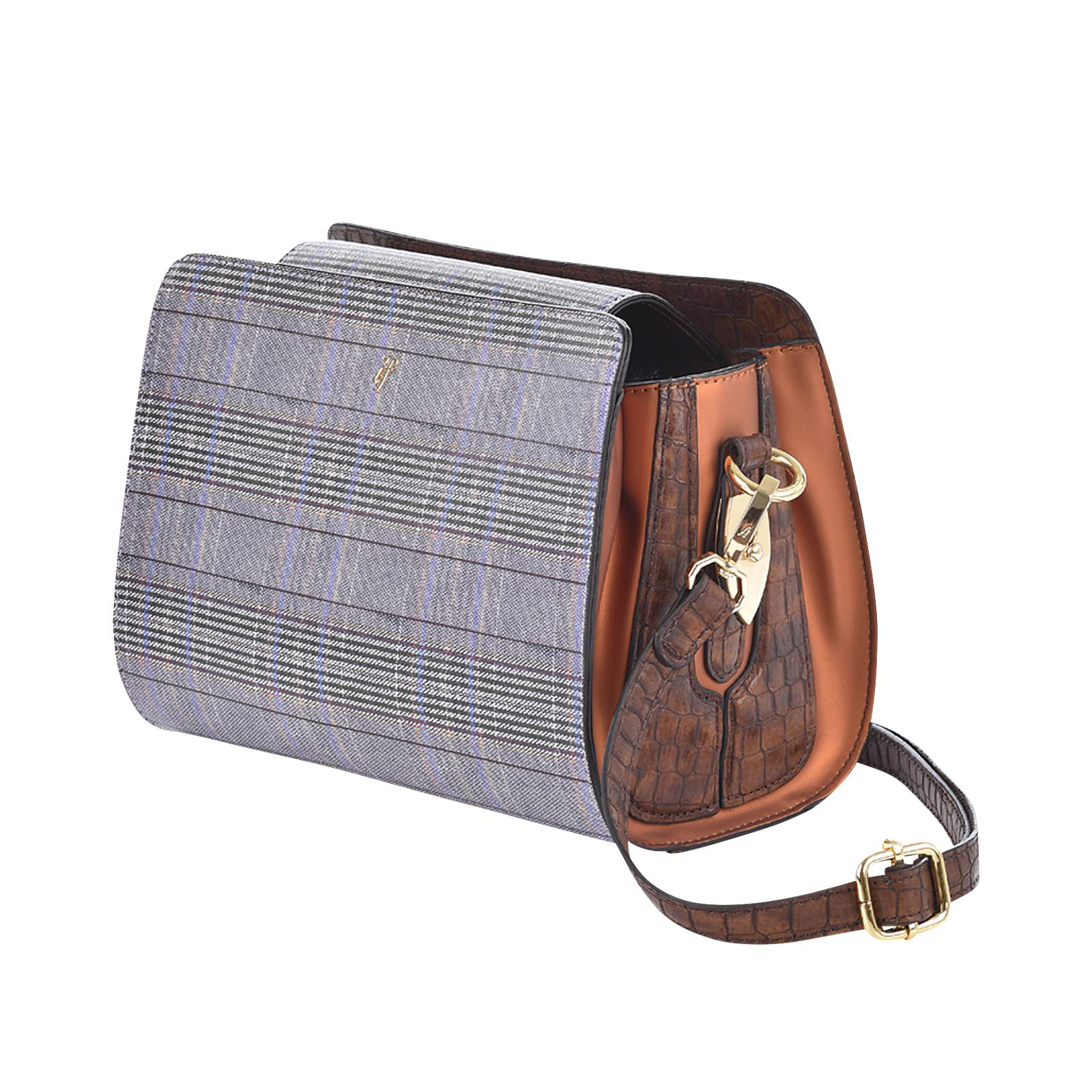 Wales Check - Γυναικεία τσάντα If από δερμα συνθετικο και δερμα ... 0a55aec6882