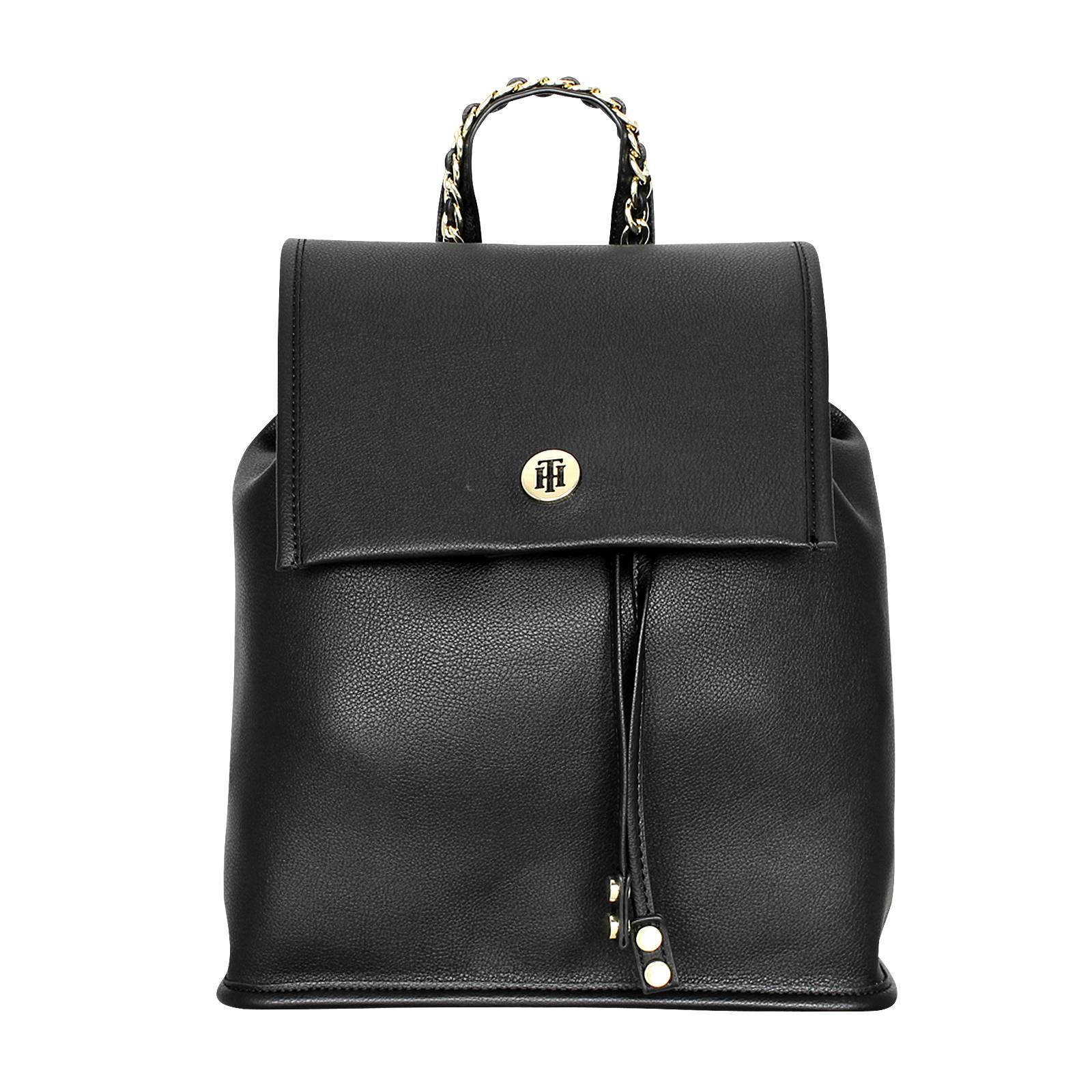 Chain Backpack - Γυναικεία τσάντα Tommy Hilfiger από δερμα συνθετικο ... 9a5448243f2